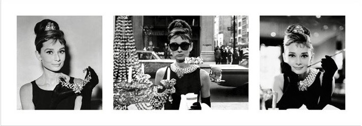 Audrey Hepburn - Breakfast at Tiffany's Triptych Art Print
