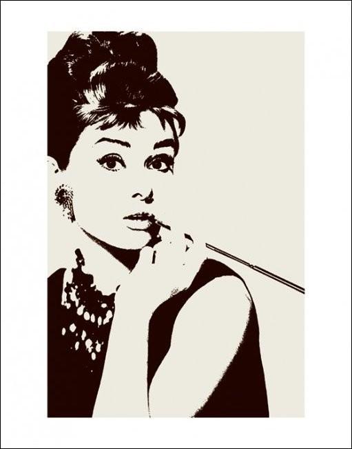 Audrey Hepburn - cigarello Art Print