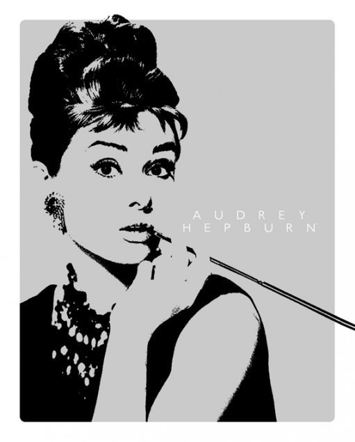 Audrey Hepburn - cigarello/grey Poster | Sold at Abposters.com
