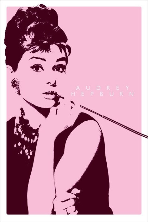 AUDREY HEPBURN II - cigarello Poster