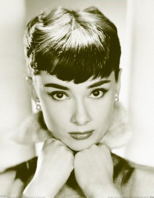 Poster Audrey Hepburn - sepia