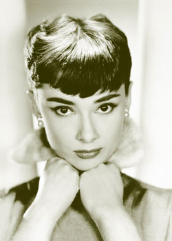 Pôster Audrey Hepburn - sepia