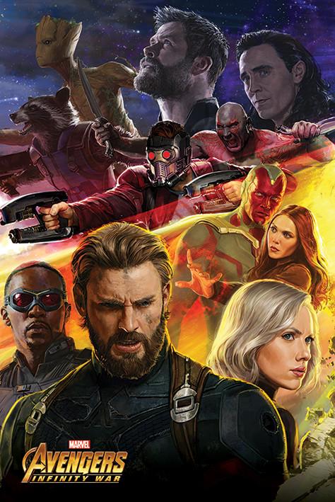 Poster  Avengers Infinity War - Captain America