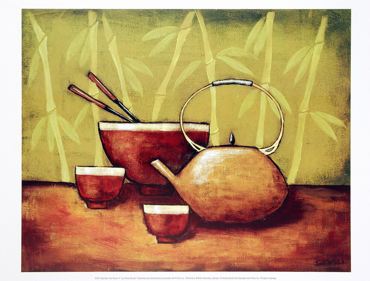 Bamboo Tea Room II Art Print