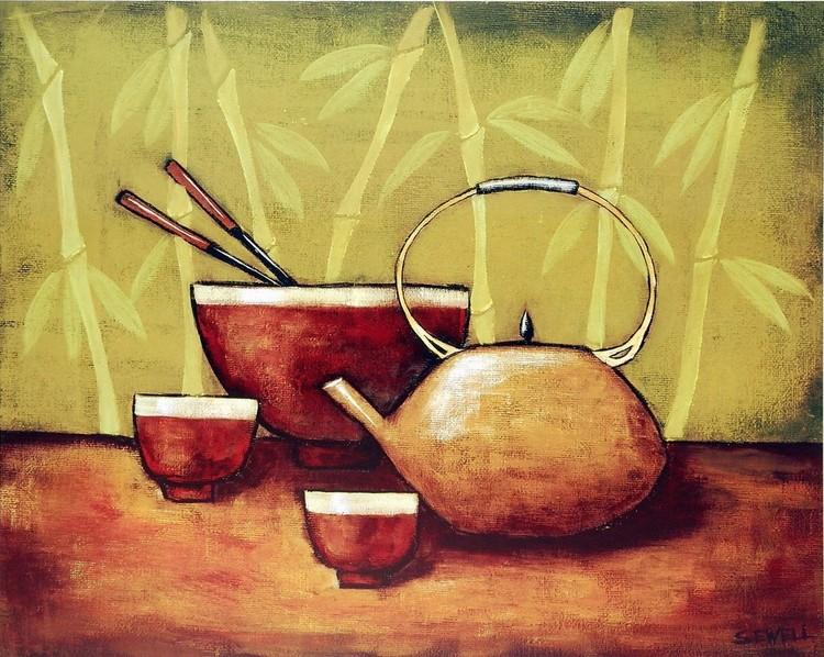Bamboo Tea Room II Art Print