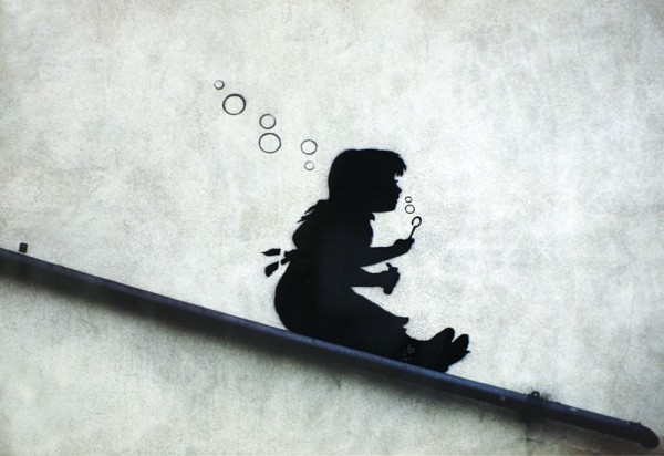 Banksy street art - Graffiti Girl Sliding Poster