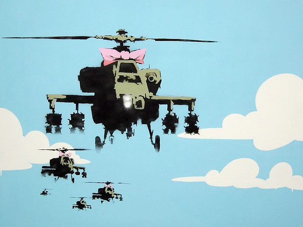 Banksy Street Art - Happy Choppers Poster