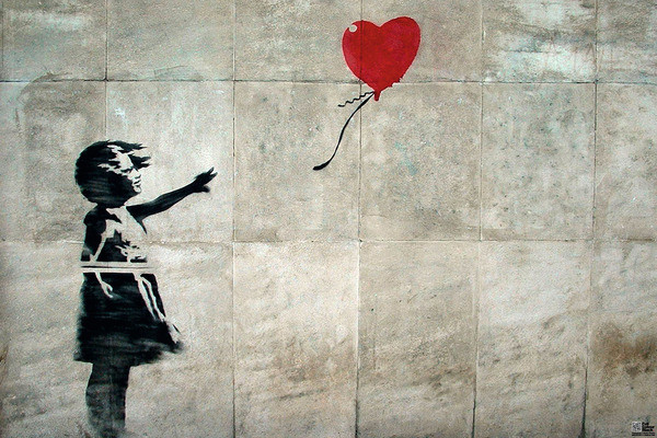 banksy street art hope poster sold at europosters. Black Bedroom Furniture Sets. Home Design Ideas