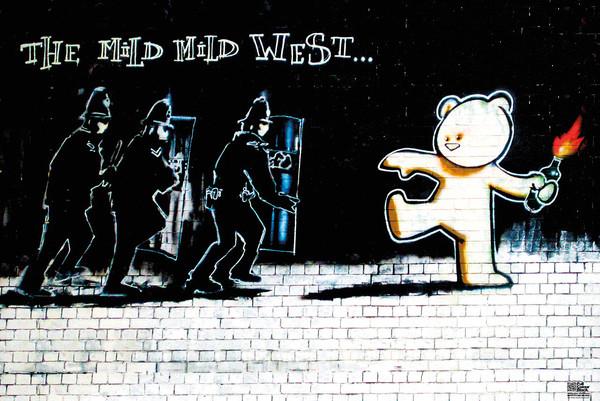 Poster Banksy Street Art - Mild Mild West