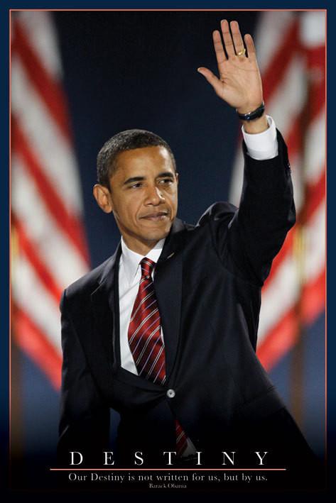 Pôster Barack Obama - osud