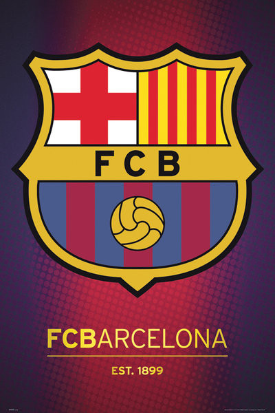 Barcelona - club crest 2013 Poster