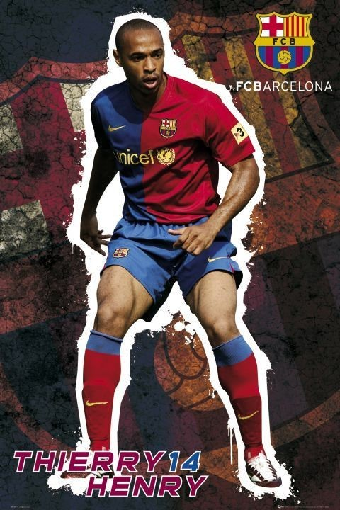 Pôster Barcelona - Henry 08/09