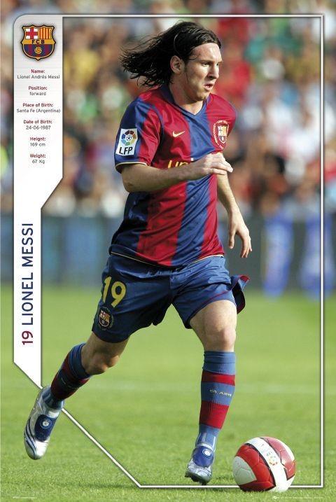 Pôster Barcelona - Messi 07/08