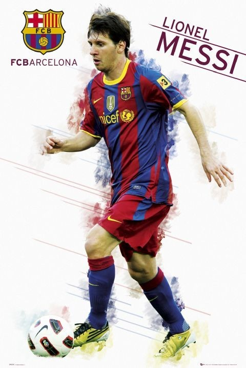 Barcelona - Messi 2010/2011 Poster