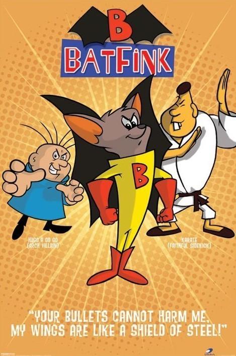 BATFINK - orange Poster