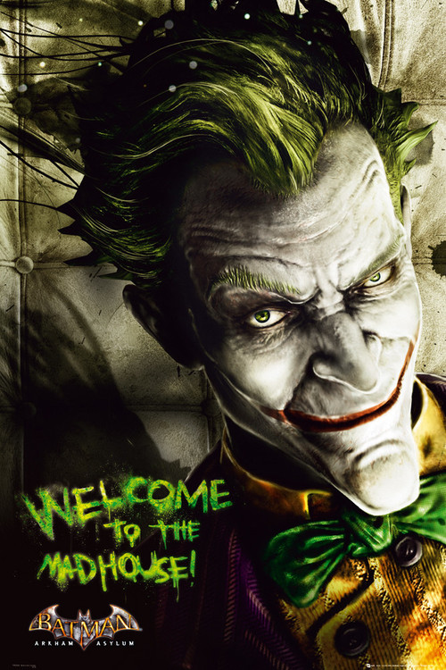 BATMAN ARKAM ASYLUM - joker Poster, Art Print