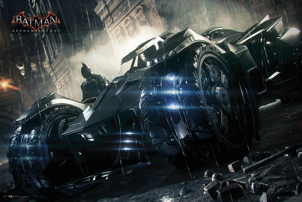 Batman Arkham Knight - Batmobile Poster, Art Print
