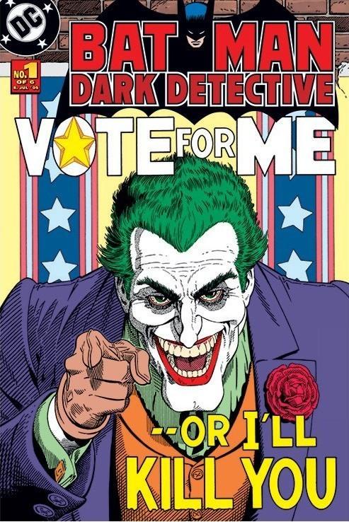 BATMAN - joker vote for me Poster, Art Print