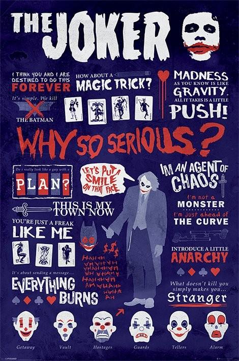 Batman: The Dark Knight - Joker Quotographic Poster