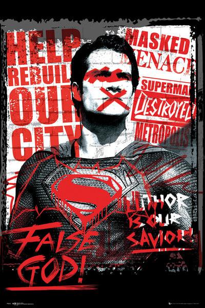 Batman v Superman: Dawn of Justice - Superman False God Poster