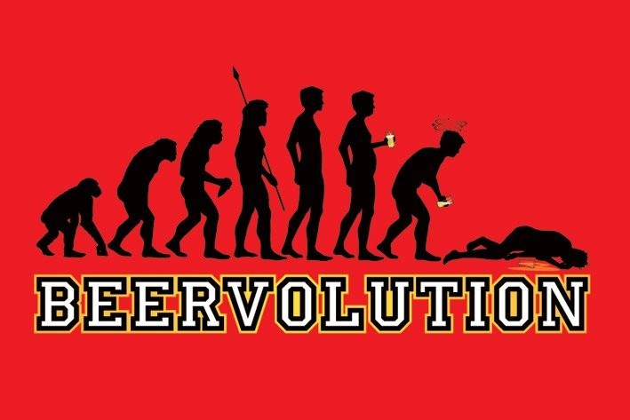 Beer evolution Poster