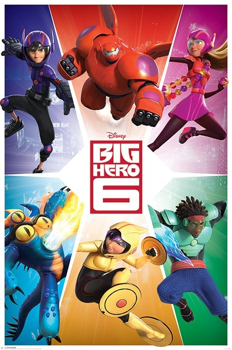Big Hero 6 - Team Poster, Art Print