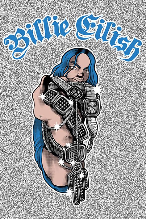 Billie Eilish - Bling Poster