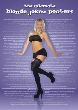 Blonde jokes Poster, Art Print