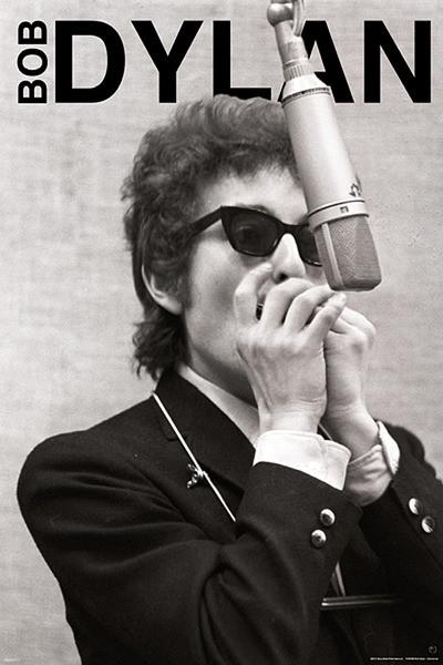 Bob Dylan - harmonica Poster