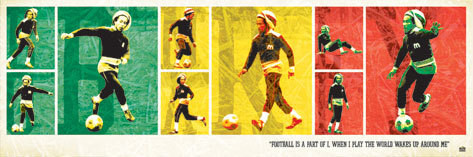 Bob Marley - football Poster, Art Print
