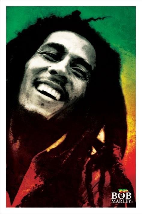 Pôster Bob Marley - paint