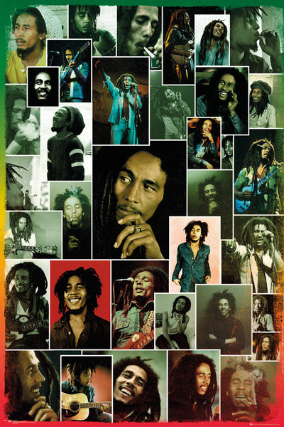 Bob Marley - Photo Collage Poster