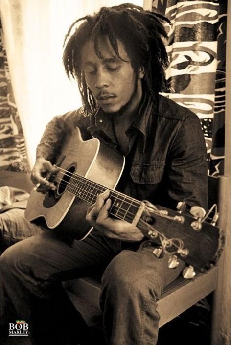 Bob Marley - sepia Poster