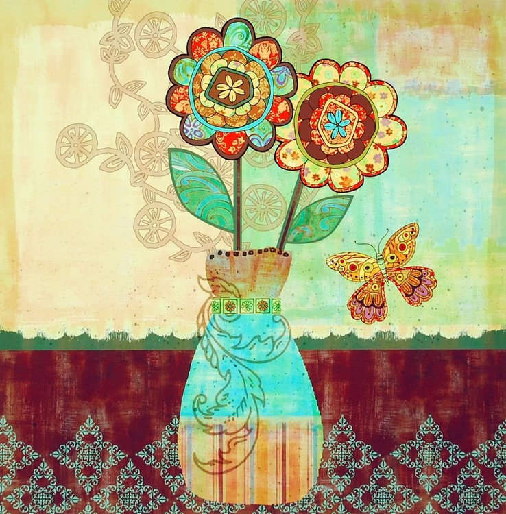 Bohemian Floral II Art Print