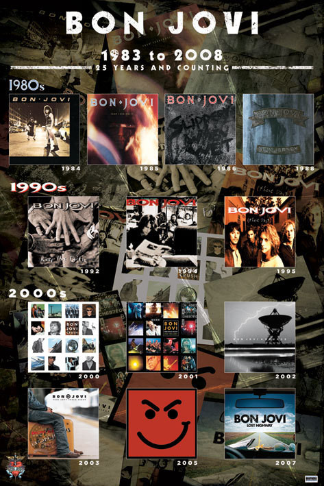 Bon Jovi - album covers Poster : Sold at Europosters