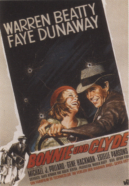 Poster Bonnie and Clyde - Faye Dunaway, Warren Beaty