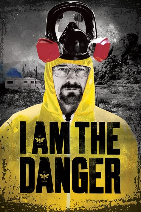 poster quadro breaking bad i am the danger em. Black Bedroom Furniture Sets. Home Design Ideas