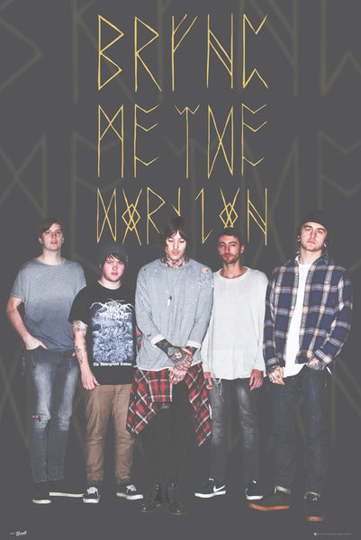 Bring Me The Horizon - Group Black Poster