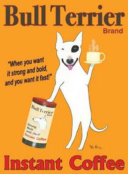 Bull Terrier Brand Art Print