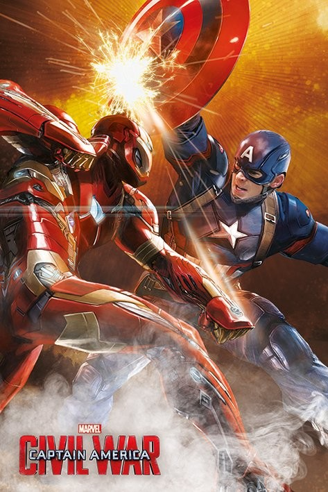Poster Captain America: Civil War - Fight