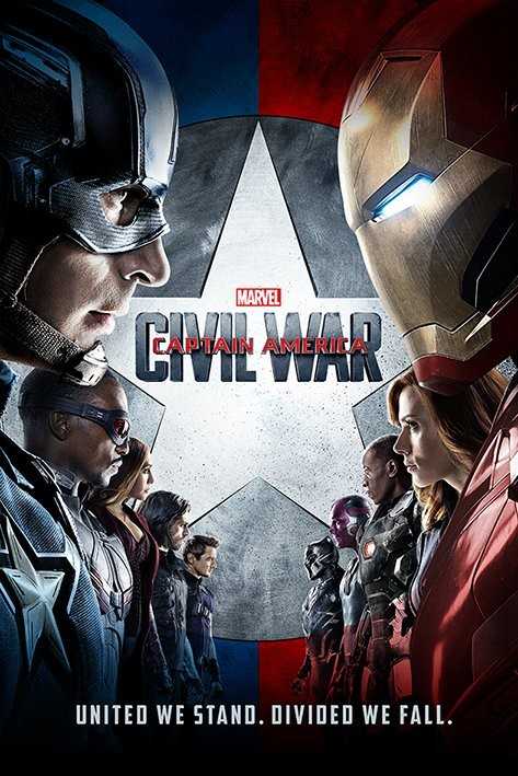 Poster  Captain America Civil War - One Sheet