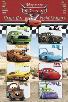 CARS - colours Poster, Art Print