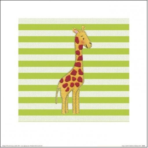 Catherine Colebrook - Nosey Giraffe Art Print