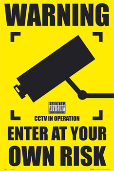 Pôster CCTV - warning