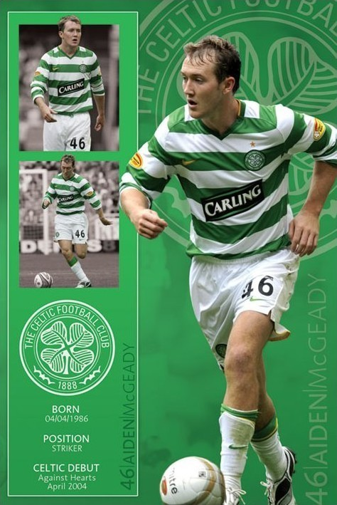 Celtic - mcgeady Poster