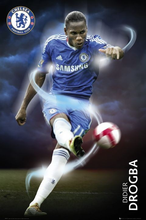 Chelsea - drogba 2010/2011 Poster