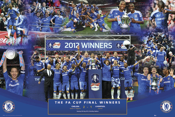 Chelsea - fa cup winners 11/12 Poster, Art Print