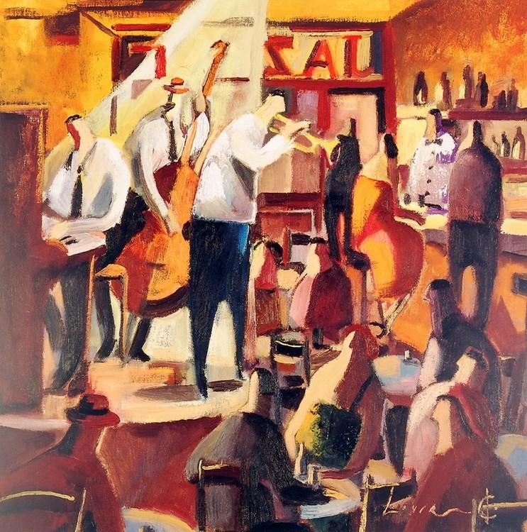 Cita con el Jazz Art Print