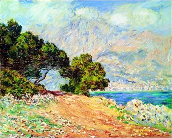 Claude Monet - Cap Martin , Near Menton Art Print