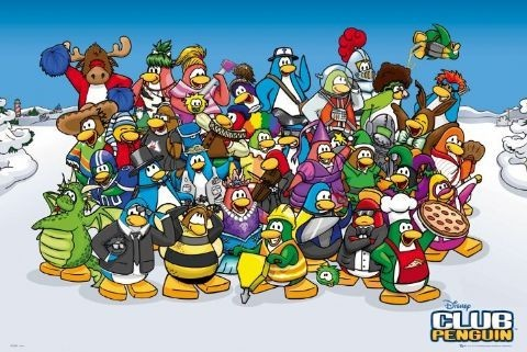 CLUB PENGUIN Poster, Art Print